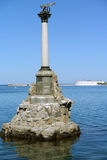 Monument to the Scuttled Warships in Sevastopol Royalty Free Stock Photo