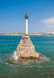 Monument to the Scuttled Warships in Sevastopol. Stock Photo