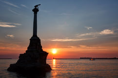 Monument to the Scuttled Warships in Sevastopol Royalty Free Stock Photography