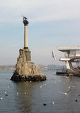 Monument to the Scuttled Warships in Sevastopol Stock Images