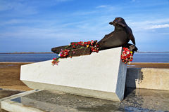 Monument to Seal in Arkhangelsk Stock Photos