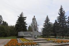Monument to Semyon Ivanovich Dezhnev in the summer morning in Veliky Ustyug, Vologda region Stock Image