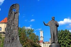 Monument to Shevchenko in Lviv Stock Image