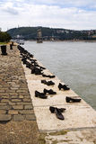 Monument to the Shoah in Budapest Royalty Free Stock Image