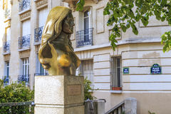 Monument to singer Dalida in Paris royalty free stock image