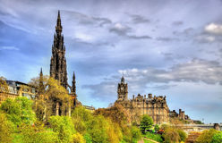The Monument to Sir Walter Scott Royalty Free Stock Photography