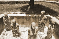 Monument to slaves in Zanzibar Stock Photo