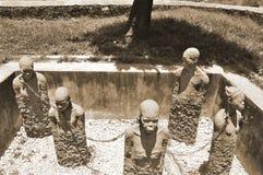 Monument to slaves in Zanzibar Stock Photo