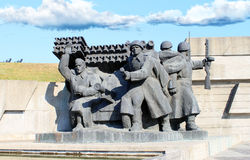 Monument to soldiers. In the city of Kiev Royalty Free Stock Photos