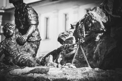 Monument to the soldiers-afghans Royalty Free Stock Image