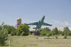 Monument to soldiers-ground attack aircraft SU-25. Royalty Free Stock Image