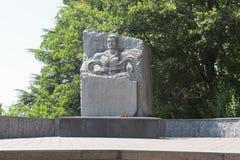 Monument to soldiers-internationalists in Lazarevskoye, Sochi, Russia Stock Image
