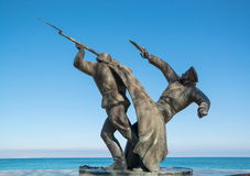 Monument to the soldiers of the Kerch-Feodosiya landing Stock Photography