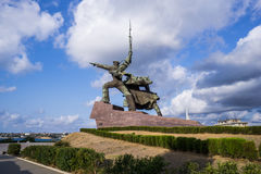 Monument to the soldiers and sailors on the Cape Crystal. Sevastopol. Stock Photo