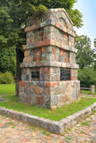 Monument to soldiers to the dead in the years of World War I, an obelisk from a hewn stone. OZYORSK, KALININGRAD REGION, RUSSIA - SEPTEMBER 02, 2014: Monument to Stock Photos