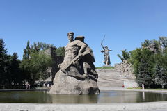 Monument to soldiers to the defenders  of Stalingrad Royalty Free Stock Photos