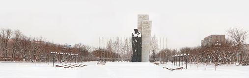 Monument to the soldiers of the USSR Stock Photos