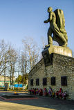 The monument to soldiers who died in World War 2 in the Kaluga region. Royalty Free Stock Photos