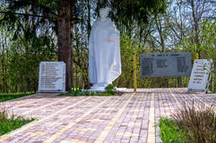 The monument to soldiers who died in world war 2 in the Kaluga region (Russia). Stock Photography