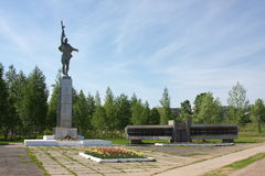Monument to soldiery soldiers on an area Stock Photo