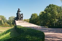 Monument to Soviet citizens and prisoners of war soldiers and officers of Soviet Army, killed by Nazi. KYIV, UKRAINE - SEPTEMBER 11, 2017: Monument to Soviet royalty free stock photo