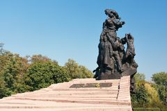 Monument to Soviet citizens and prisoners of war soldiers and officers of Soviet Army, killed by Nazi Stock Photography