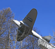 Monument to the Soviet heavy bomber aircraft IL-2 in Istra, Russia Stock Images