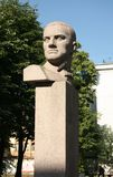 Monument to the Soviet poet Vladimir Mayakovsky royalty free stock images