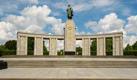 Monument to Soviet Soldiers in Berlin Stock Images