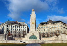 Monument to Soviet soldiers in Budapest Stock Image