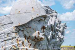 Monument to Soviet soldiers, destroyed after the hostilities of Royalty Free Stock Photography