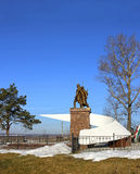 Monument to Soviet soldiers Stock Images