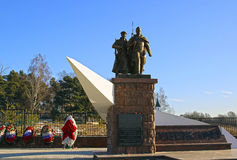 Monument to Soviet soldiers Stock Photos