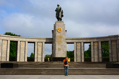 Monument to the Soviet Warrior-Liberator in Treptower Park. Germany, Berlin Stock Photo
