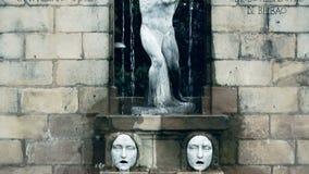 Monument to Spanish chore director Aureliano Valle, famous landmark in Bilbao. Stock footage stock video footage