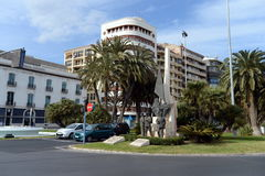 Monument to the Spanish military in the Sea Square in Alicante. Stock Photography