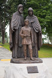 Monument to St. Cyril, Maria and the son Bartholomew Stock Image