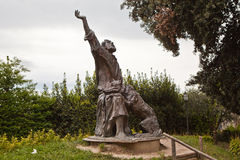 Monument to St. Francis tamed the wolf. Gubbio. Umbria. Italy. Royalty Free Stock Photography