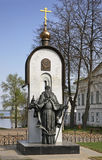 Monument to St. Macarius Kalyazinsky in Kalyazin Russia Royalty Free Stock Images