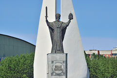 Monument to St Nicholas Wonderworker. Kaliningrad, Russia Stock Image