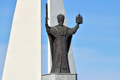 Monument to St Nicholas The Wonderworker. Kaliningrad, Russia Royalty Free Stock Images
