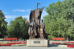 Monument to St. Peter and St. Fevronia of Murom in Yekaterinburg, Russia Stock Image