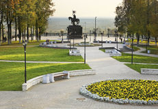 Monument to St. Prince Vladimir and prelate Fedor in Vladimir. Russia Stock Photo
