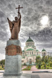 Monument to St. Prince Vladimir and the Volodymyr's Cathedral, A Royalty Free Stock Photo