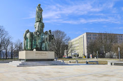 Monument to Stanislaw Wyspianski, famous polish artist, Krakow, Stock Photos