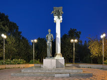 Monument to the Students of Tomsk or Monument to Saint Tatiana in the evening Stock Photography