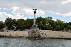 Monument to sunken ships, Sevastopol Stock Image