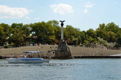 Monument to sunken ships, Sevastopol Royalty Free Stock Photography