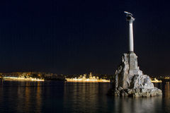 Monument to sunken ships Stock Photo