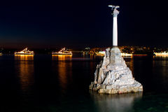 Monument to sunken ships Royalty Free Stock Photo